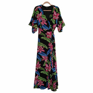 Forever 21+ Tropical Maxi Wrap Dress Size 2X